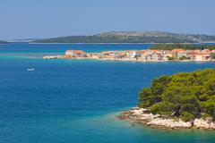 panoramic views of the croatian coast, dalmatia - stock photo