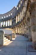amphitheater of pula, croatia - stock photo