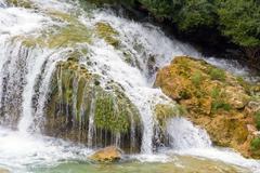 Waterfalls on krka river. national park, dalmatia, croatia Stock Photos