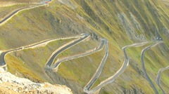 spectacular mountain road - stock footage