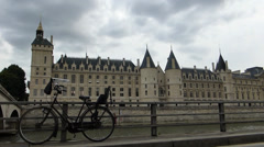 The Conciergerie in Paris  France with sound (PARIS Conciergerie-1a) Stock Footage