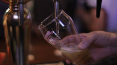 Beer machine in the pub HD Stock Footage