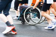Stock Photo of disabled athlete in a sport wheelchair