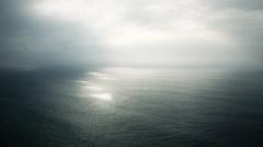 sea sky and sun - stock footage