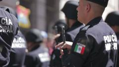 Mexico federal police Stock Footage