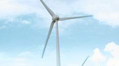 Wind turbines on wheat field Stock Footage