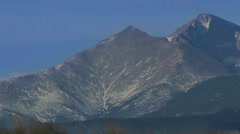 Long's Peak Timelapse Stock Footage