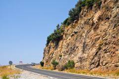 Road near alanya in taurus mountains, turkey Stock Photos