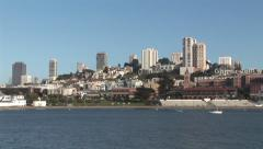 San Francisco Bay and Skyline Panoramic Stock Footage