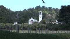 Spanish Mission Style Church Stock Footage