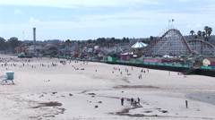 Santa Cruz Beach Boardwalk - stock footage