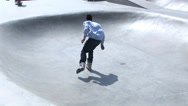 Stock Video Footage of Rollerblading and Skateboarding at Venice Beach