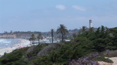 Coit Tower and Del Mar Beach Stock Footage