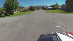 Driving through small rural town residential 4x4 HD 4074 Stock Footage