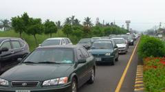 Evacuation Traffic - stock footage