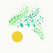 Stock Illustration of watercolor floral