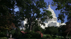 The US Capital Dome in Washington DC Stock Footage