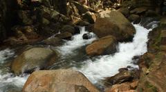Namtok Phlio, Phlio waterfall national park Stock Footage