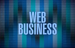 binary web business illustration design - stock illustration