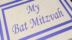 Invitation: bat mitzvah card Stock Footage