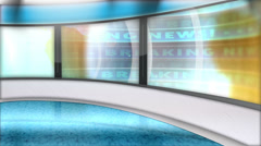 Virtual Set News Background Animation Stock Footage
