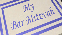 Invitation: bar mitzvah card Stock Footage