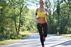 beautiful fitness woman exercising - stock photo