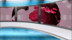 World News Virtual Studio Background (LOOP) Stock Footage