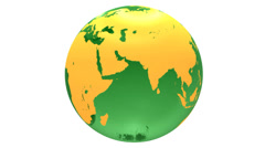 spinning green glass earth globe - stock footage