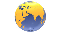 spinning blue glass earth globe - stock footage