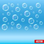 SPA aqua simple background with bubbles Stock Illustration