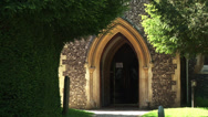 Stock Video Footage of english church entrance