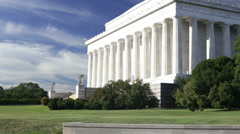 Lincoln Memorial in Washington DC Stock Footage