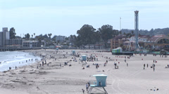 Santa Cruz Beach and  Boardwalk Stock Footage