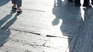 Stock Video Footage of WALKING SHADOWS PEOPLE