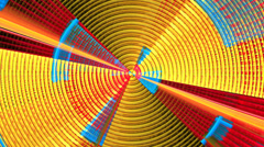 Circular concentric geometric motion background seamless looping fractal - stock footage