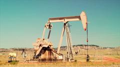 Pumpjack Pumping Oil - stock footage