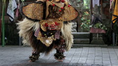 Barong dance Bali Stock Footage