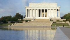 Lincoln Memorial in Washington DC - stock footage
