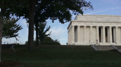 Lincoln Memorial in Washington DC Stock Footage