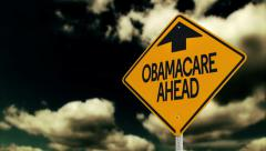 Obamacare Warning Sign 3630 Stock Footage