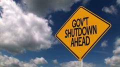 Government Shutdown Ahead 3632 - stock footage