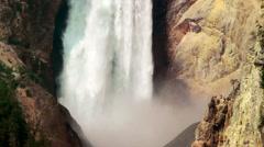 Yellowstone Waterfall Stock Footage