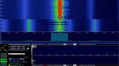 Radio Signal Spectrum Capture Stock Footage