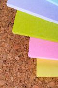 Multi colored post it notes Stock Photos