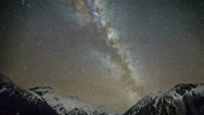 Stock Video Footage of Timelapse of Milky Way At Mount Cook