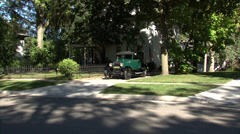 Ford Model A 1929 Driveway In Stock Footage