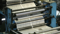 Printing machine - stock footage
