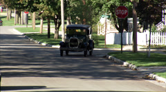 Ford Model A 1929 DrivewayCU By RL Stock Footage