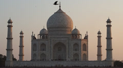 Taj Mahal in Agra, India Stock Footage